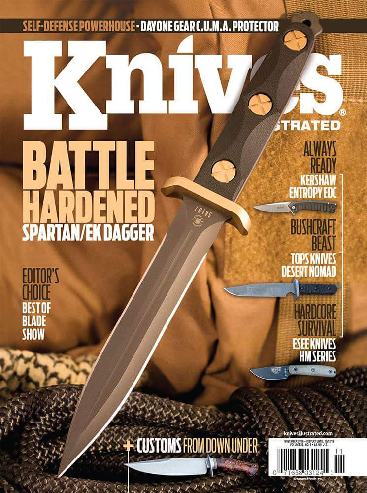 C.U.M.A. Protector in Knives Illustrated Magazine