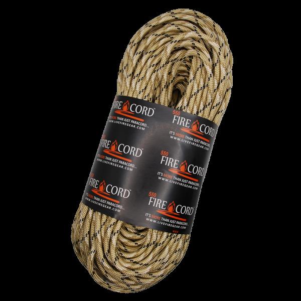 550 FireCord - Desert Camo - 100 Feet
